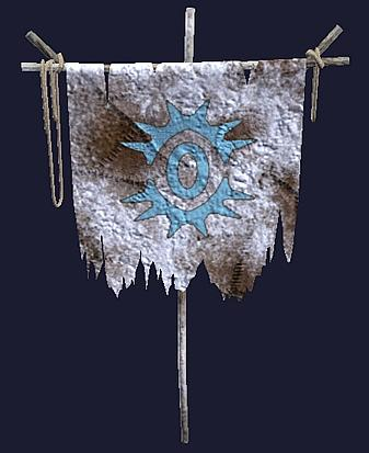 A frosted Order of Rime banner
