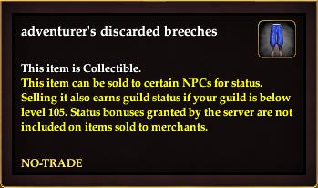 Adventurer's discarded breeches