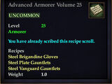 Advanced Armorer Volume 25