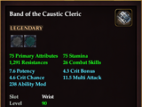 Band of the Caustic Cleric