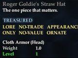 Roger Goldie's Straw Hat