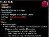 Evaded Blade