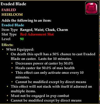 Evaded Blade