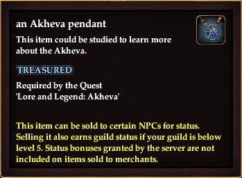 An Akheva pendant
