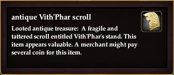 Antique Vith'Phar scroll