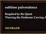 Sublime pulverulence