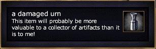 A damaged urn