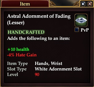 Astral Adornment of Fading (Lesser)