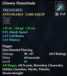 Gloomy Flameblade (Level 59)