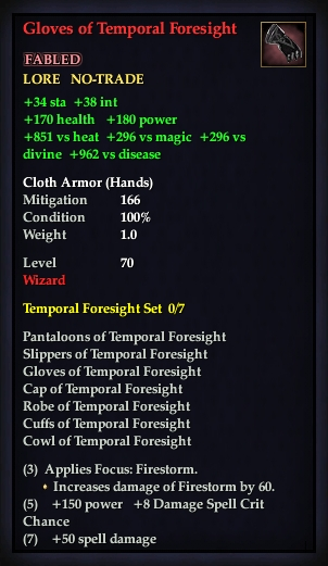 Gloves of Temporal Foresight (Version 1)