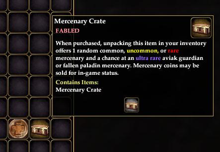 Mercenary Crates