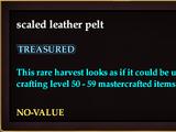 Scaled leather pelt