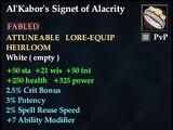 Al'Kabor's Signet of Alacrity