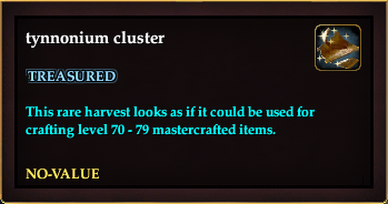 Tynnonium cluster (QuestReward)