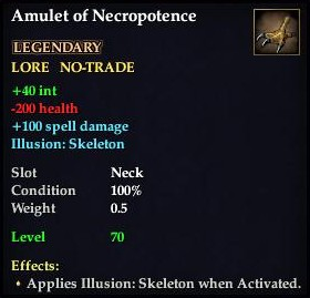 Amulet of Necropotence (Level 70)