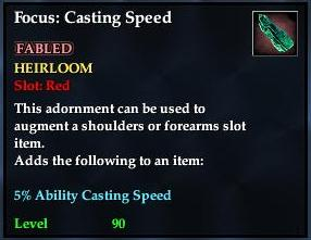 Focus: Casting Speed (yellow)