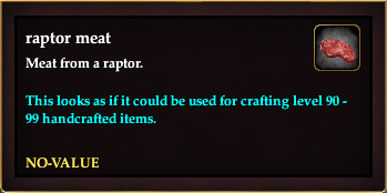 Raptor meat