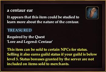 A centaur ear