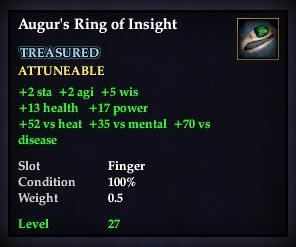 Augur's Ring of Insight