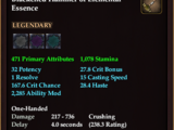 Blackened Hammer of Elemental Essence