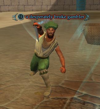 A desperately broke gambler