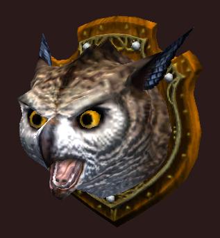 An Owlbear Wall Trophy