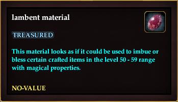 Lambent material