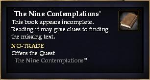 """""""The Nine Contemplations"""" (Quest Starter)"""