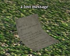 A Messenger's Task