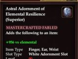 Astral Adornment of Elemental Resilience (Superior) (Crafted)