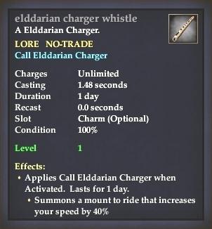 Elddarian charger whistle