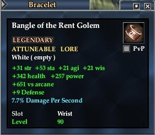 Bangle of the Rent Golem