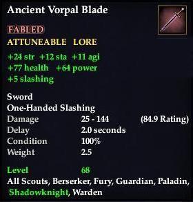 Ancient Vorpal Blade