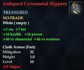 Antiqued Ceremonial Slippers