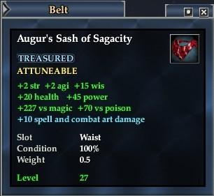 Augur's Sash of Sagacity