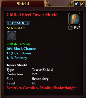 Chilled Steel Tower Shield