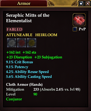 Seraphic Mitts of the Elementalist