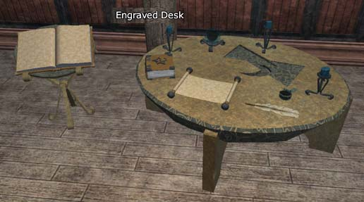 Engraved Desk