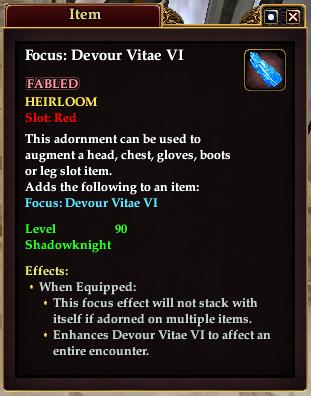 Focus: Devour Vitae VI