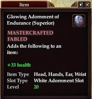 Glowing Adornment of Endurance (Superior)