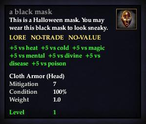 A black mask