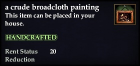 A crude broadcloth painting