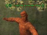 A vigilant terracotta buqu