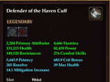 Defender of the Haven Cuff
