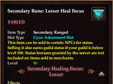Secondary Rune: Lesser Heal Focus (2.5) (Version 1)