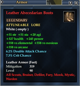 Leather Abecedarian Boots