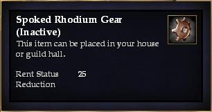 Spoked Rhodium Gear (Inactive)
