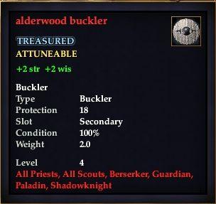 Alderwood buckler