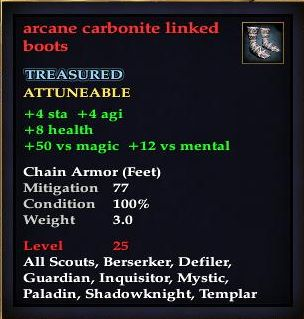 Arcane carbonite linked boots