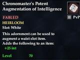 Chronomaster's Potent Augmentation of Intelligence